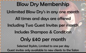 blow dry membership